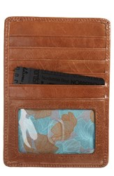 Hobo Women's 'Euro Slide' Credit Card And Passport Case Brown Cafe