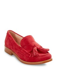 Kate Spade Blaine Suede Tassel Loafers Ruby