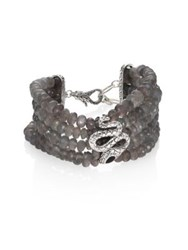 John Hardy Legends Cobra Collection Multiple Coil Bracelet Black Onyx