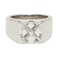 Off White Silver Arrow Ring