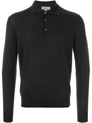 Canali Polo Sweater Black