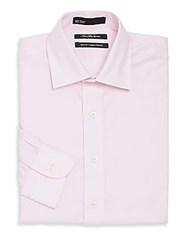 Saks Fifth Avenue Slim Fit Cotton Dress Shirt Light Pink
