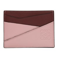 Loewe Pink And Burgundy Puzzle Card Holder
