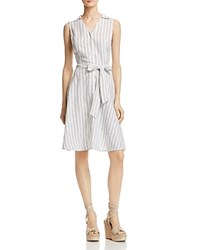 Aqua Stripe Shirt Dress 100 Exclusive White Black