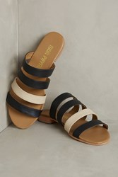 Anthropologie Nina Payne Netta Slides Black Motif