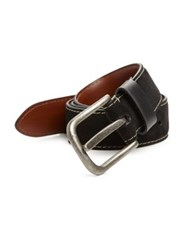 Saks Fifth Avenue Solid Suede Belt Black