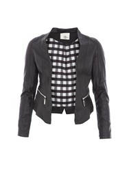 Relish Leatherette Jacket Black