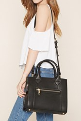 Forever 21 Structured Faux Leather Satchel