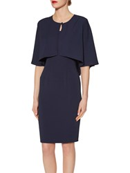 Gina Bacconi Moss Crepe Cape Spring Navy