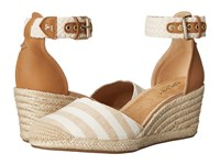 Sperry Valencia Canvas Natural Sand Stripes Women's Wedge Shoes