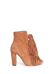 Chloe 'Maya' Knotted Tassel Suede Boots Brown
