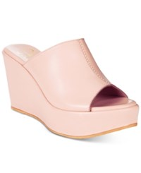 Callisto Maeve Platform Wedge Sandals Women's Shoes Blush