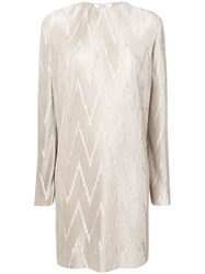 Givenchy Micro Pleated Dress Grey