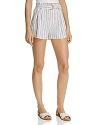 Aqua Paper Bag Striped Shorts 100 Exclusive Ivory Navy