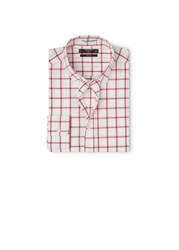 Mango Slim Fit Check Shirt Blood Red
