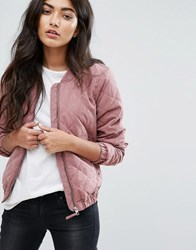 Jdy Quilted Bomber Jacket Pink