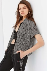 Urban Outfitters Uo Dolores Button Down Top Black Multi