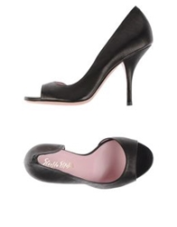 Ernesto Esposito Pumps With Open Toe Black