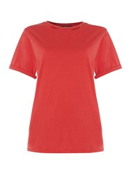 Replay Wrinkled Jersey T Shirt Red