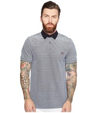Fred Perry Polka Dot Oxford Pique Shirt Dark Carbon Oxford Men's Clothing White