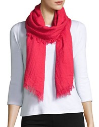 Lord And Taylor Fringed Scarf Dark Pink