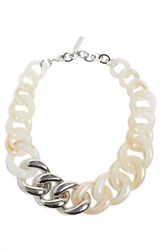 Lafayette 148 New York Chain Link Statement Necklace Cloud Multi