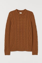 Handm H M Cable Knit Sweater Beige