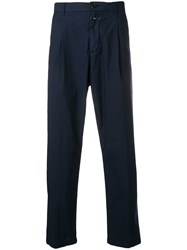 Closed Double Pleat Chinos Blue