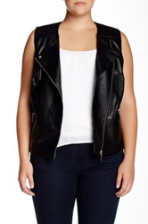 Mynt 1792 Faux Leather Vest Plus Size Black