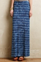 Anthropologie Pacific Stripe Maxi Skirt Navy