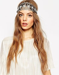 Asos Daisy Lace Headband Black