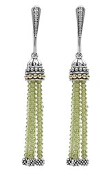 Lagos Women's 'Caviar Icon' Tassel Drop Earrings Peridot Silver Gold