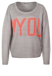 Sublevel We Love You Jumper Light Grey