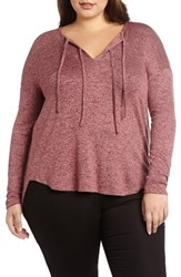 Addition Elle Love And Legend Plus Size Women's Tie Neck Knit Top