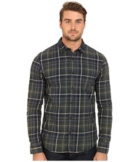 Mavi Jeans Plaid Button Down Green Gables Checked Men's Long Sleeve Button Up Black