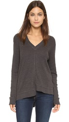 Wilt Thermal V Neck Top Muddy Charcoal