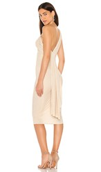 Katie May X Revolve Kong Dress In Metallic Gold. Champagne