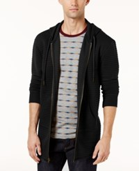 American Rag Men's Elongated Sweatshirt Created For Macy's Deep Black