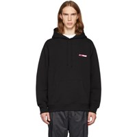 Opening Ceremony Ssense Exclusive Black And Pink Logo Hoodie