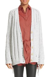 3.1 Phillip Lim Women's Pointelle Knit Cardigan