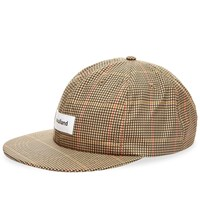 Soulland Checked 6 Panel Cap Brown