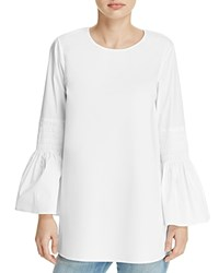 Michael Michael Kors Smocked Bell Sleeve Tunic 100 Exclusive White