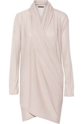 Alice Olivia Convertible Wool And Cashmere Blend Sweater Taupe