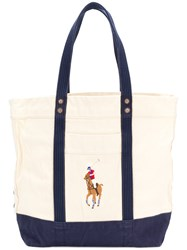 Polo Ralph Lauren Logoed Shopper Tote Nude And Neutrals