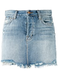J Brand Bonny Mini Denim Skirt Women Cotton 25 Blue