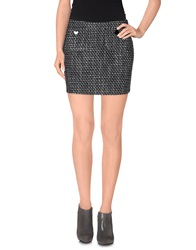 G.Sel Mini Skirts Steel Grey