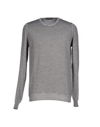 Black Flower Knitwear Jumpers Men Grey