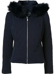 Magaschoni Zipped Hooded Jacket Blue