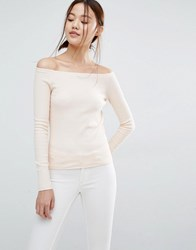 Vero Moda Jersey Bardot Top Cream Tan