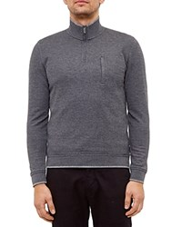 Ted Baker Sons Half Zip Sweater Gray Marl